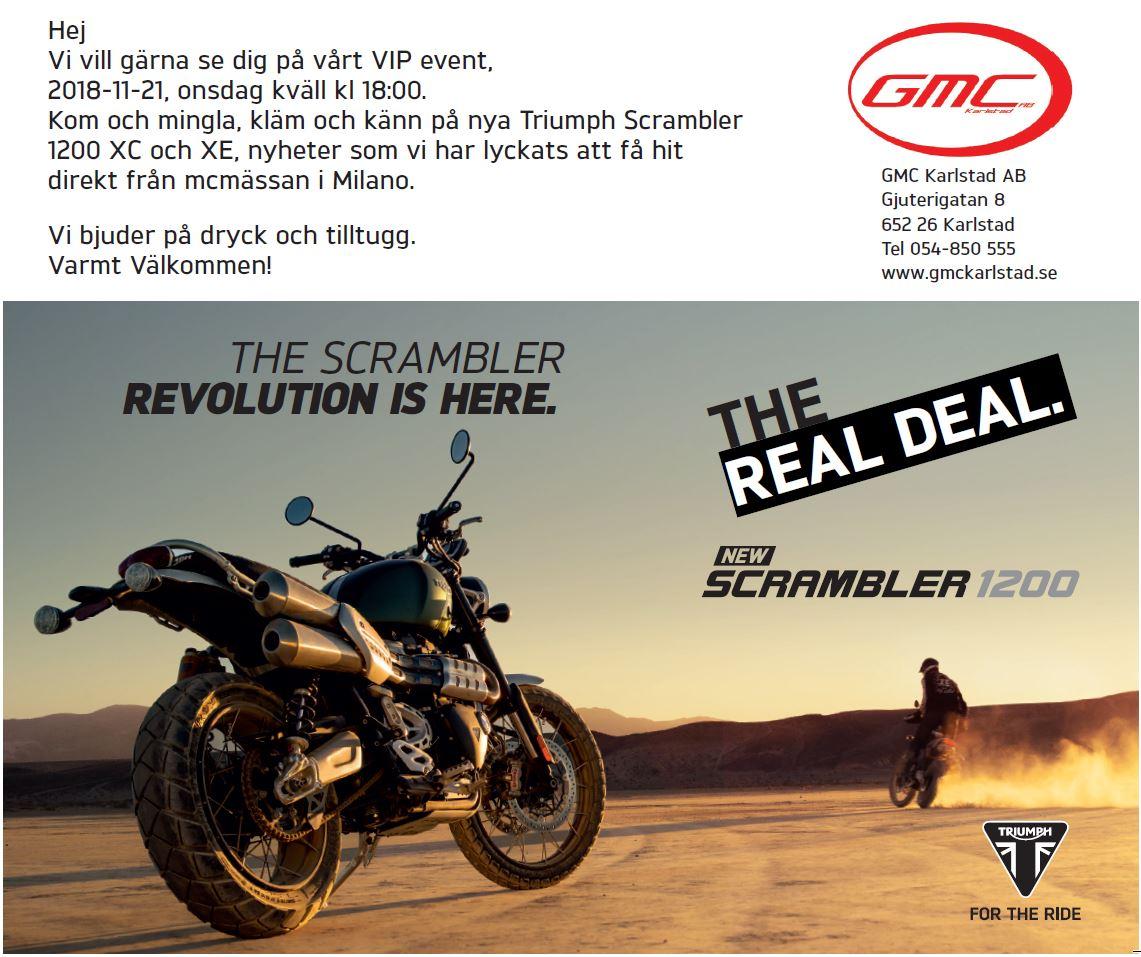 Triumph Scrambler 1200 förhandsvisning 18-11-21 kl 18:00