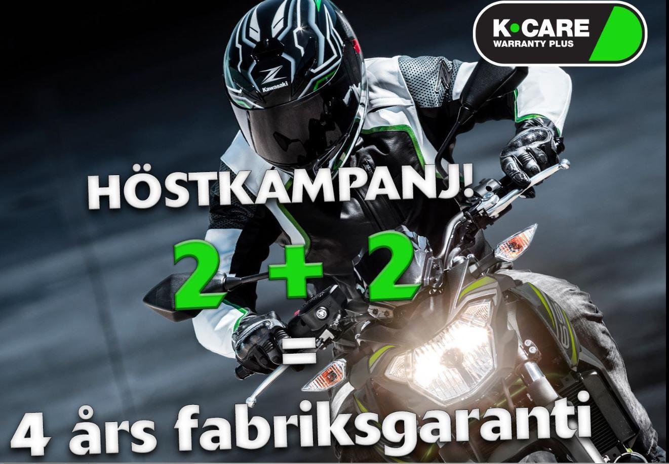 Höstkampanj! 4 års Kawasaki fabriksgaranti